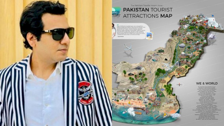 Pakistan's First Ever Tourist Attraction Map Created By Assam Awan.