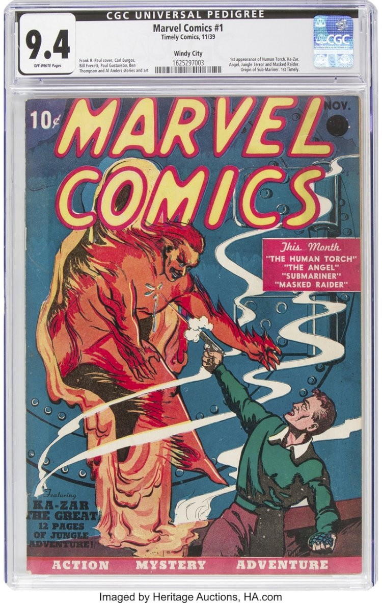 10 Cents Marvel Comic Published In 1939 Gets Sold In $ 1.3 Million