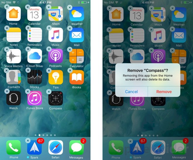 How to delete app from iPhone